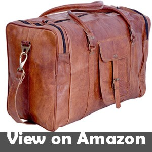 092f796ffbb6 KPL 21 Inch Vintage Leather Duffel Travel Gym Sports