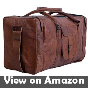 Komals-Passion-Leather-24-Inch-Square-Duffel-Travel-Gym-Sports-Overnight-Weekend-Leather-Bag