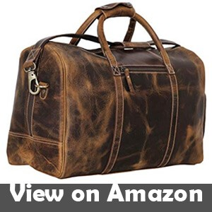 Leather-Duffel-Bag-Travel-Gym-Sports-Overnight-Weekend-cabin-holdall-by-KomalC