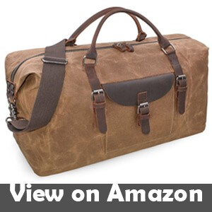 1ddc13094960 Oversized Travel Duffel Bag Waterproof Canvas Genuine Leather