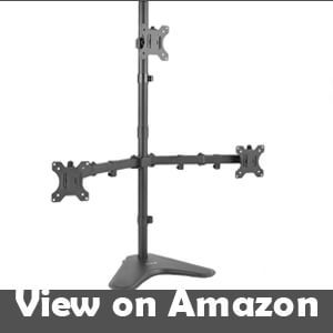 best triple monitor stand 28 inch
