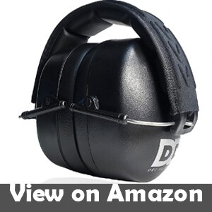 Hearing protection headphones for lawn mowing